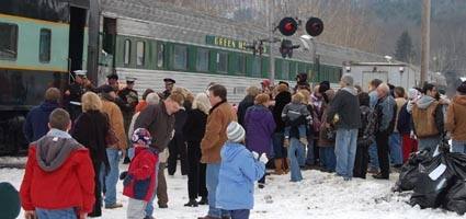 Toys For Tots Train Arrives In Bainbridge