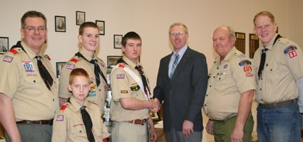 Myers earns Eagle Scout award
