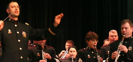 Military band plays in Oxford
