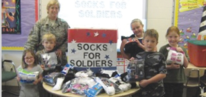'Socks for Soldiers' stresses the simple things for S-E kids