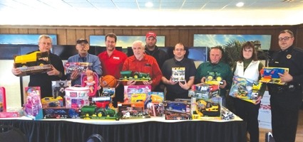Showing support to Toys for Tots