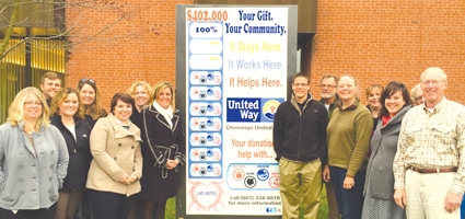 Tracking the progress of the Chenango United Way campaign 2015