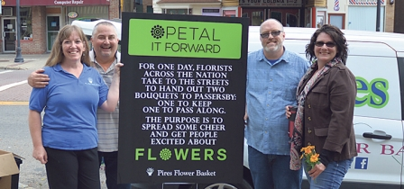 Pires Flower Basket Has Success With First Petal It Forward Event