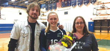 Bobcat volleyball rolls to dominating home win for senior night