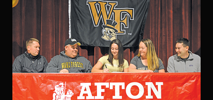 Official business: Afton field hockey standout signs letter to play D-I
