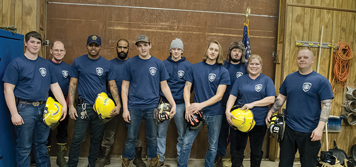 Twelve graduate exterior firefighter training