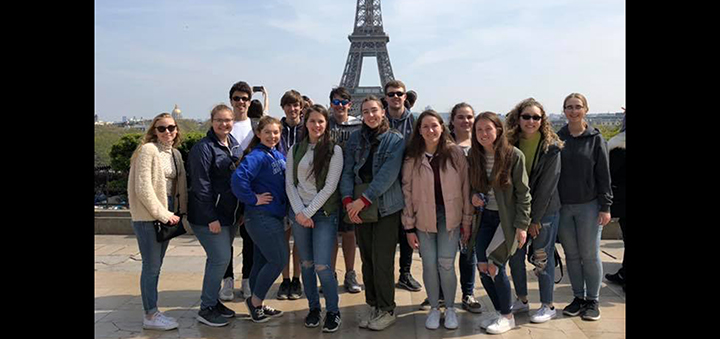Norwich students in Paris witness fire at Notre Dame