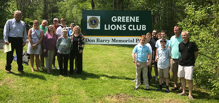 Lions Club Rededicates Greene Park