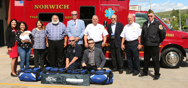 Norwich receives multiple pediatric trauma kit donation