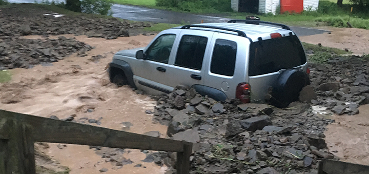 Oxford deals with damage from flash flooding