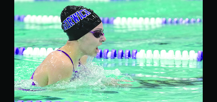 Lady Tornado swimmers climb three spots at Waverly Invitational