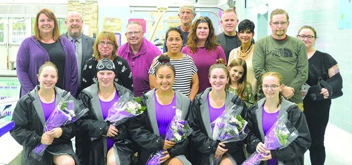 Tornado Swimmers Set Fast Times In Non-league Win Over Greene On Senior Night