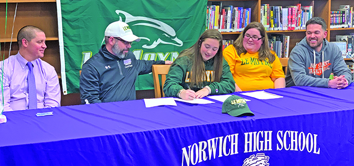 Norwich's Eaton signs with LeMoyne Basketball for full four-year offer