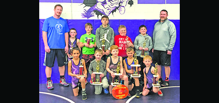 Norwich Pee-Wee Wrestlers take Sidney tournament by storm
