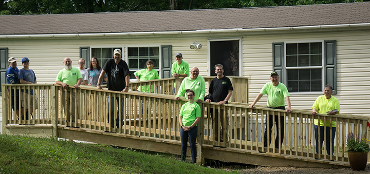 The Impact Project helps homeowner in Afton area