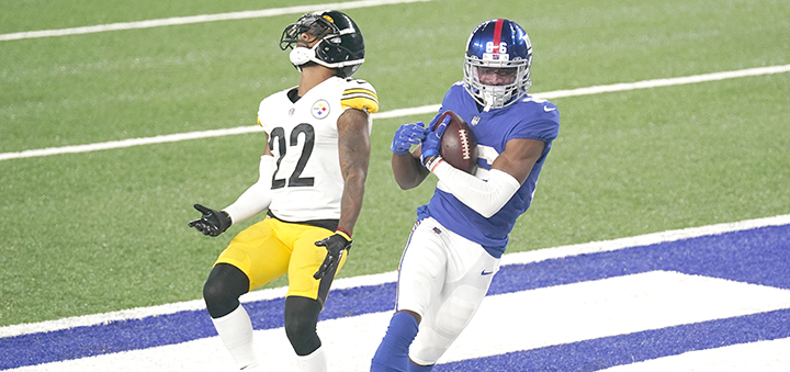 Receiver Darius Slayton finding end zone again for Giants