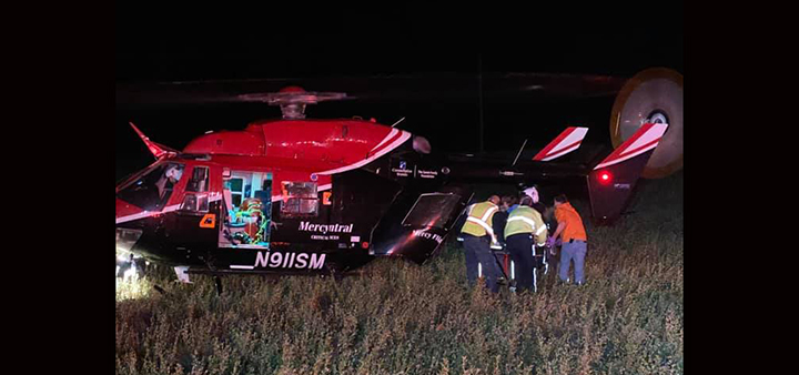 Man airlifted following rollover in Pitcher
