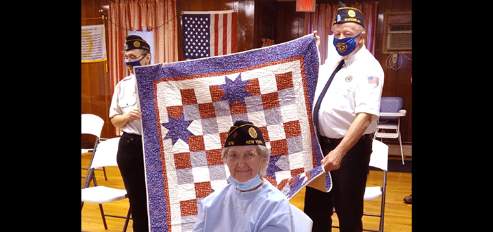 Quilts of Honor presentation at Oxford American Legion