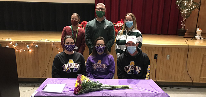 Greene field hockey player Leah Decker signs national Letter of Intent with University of Albany