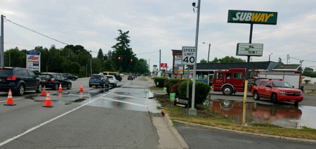 Water main breaks near businesses in Town of Norwich