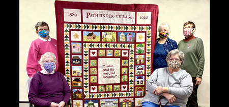 Masterpiece quilt celebrates Pathfinder's 40th Anniversary and National Down Syndrome Awareness Month
