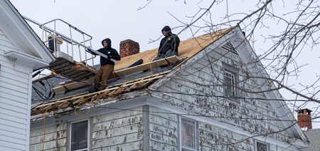 Norwich family receives new roof for free