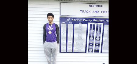 Craddock breaks NHS track record in triple jump